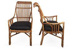 Vintage Rattan Armchairs, Pair on OneKingsLane.com