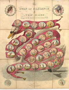 The Swan of Elegance - A New Game Designed for the Instruction and Amuseument of Youth (1814) | Flickr - Photo Sharing!