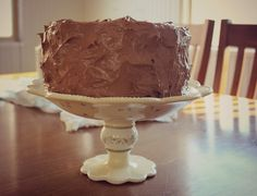 You will salivate just reading the ingredients for this velvety chocolate frosting! - Moore Minutes: The best chocolate cake you'll ever have...really! And a 78th Birthday, a gathering of generations