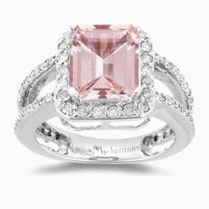 Pink Morganite in white gold