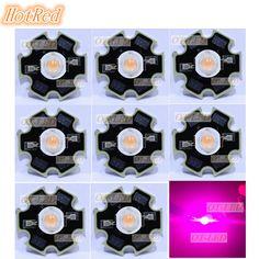 Encontrar Más Bombillas LED y Tubos Información acerca de 50 unids 400nm 840nm Espectro Completo Crece la Luz LED 3 W LLEVÓ la Viruta, 700mA 45mil Luces de la Planta de Amplio Espectro con 20mm/16mm Estrella Base, alta calidad led chip, China led 3w Proveedores, barato chip led de HotRed OTLED Store en Aliexpress.com