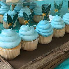 Mermaid Tail Cupcake Toppers - Set of 12 Mermaid Birthday Cakes, Mermaid Cupcakes, Birthday Cupcakes, 11th Birthday, Baby Birthday, Mermaid Party Decorations, Mermaid Crafts, Cupcake Toppers, The Little Mermaid