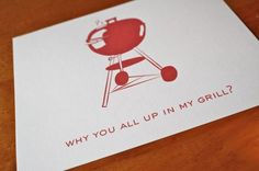 bbq party invite -@Shannon Eldridge this probably isn't what you were going for but it was too cute not to share. LOL