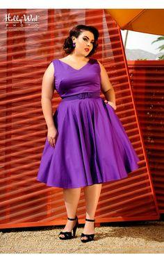 Havana Nights Dress in Purple - Plus Size