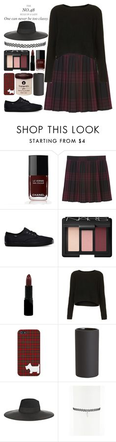 """The No. 48 Rule Of A Lady: One Can Never Be To Classy"" by raelee-xoxo ❤ liked on Polyvore featuring Chanel, Monki, Vans, NARS Cosmetics, Rimmel, Topshop, CB2, Maison Michel, women's clothing and women"