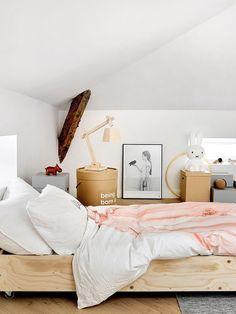 modern finnish design in a classic color palette. Modern Kids Bedroom, Home Decor Bedroom, Bedroom Inspo, Low Ceiling Bedroom, Dining Room Blue, Living Styles, Bedroom Colors, Carrara, Home Decor Inspiration