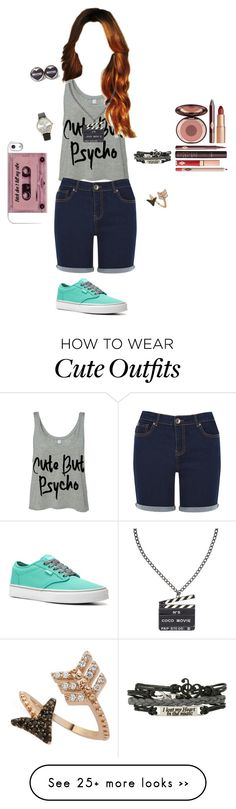 """Physco"" by breezyd123 on Polyvore featuring moda, Oasis, Vans, Charlotte Tilbury, Chanel, Bee Goddess e Forever 21"