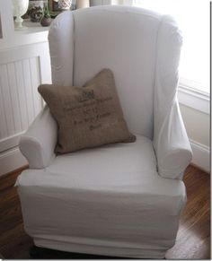 Burlap pillow tutorial