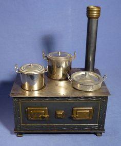 Antik BING Puppenherd Blech Puppenhaus Puppenküche 1900 vintage toy stove D161    eBay