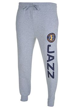 NBA Utah Jazz Men's Basic Jogger Pants, Large, Heather Gray  http://allstarsportsfan.com/product/nba-mens-active-basic-french-terry-jogger-pants/?attribute_pa_teamname=utah-jazz&attribute_pa_size=large  Officially Licensed By The NBA (National Basketball Association) Perfect for running, sports, exercise, fitness, lounging around the house, or anything in between High quality screen print graphics of team logo and name