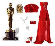 """Red for the Gold"" by snowmobileer500 ❤ liked on Polyvore featuring Yves Saint Laurent and Harry Kotlar"
