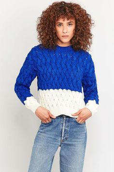 Urban Outfitters - Pull torsadé colour block