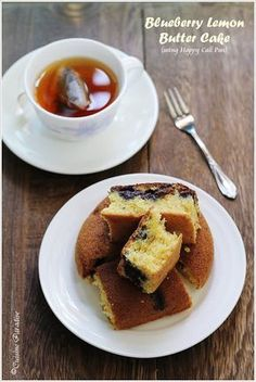 Blueberry Lemon Butter Cake using Happy Call Pan