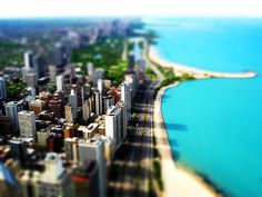Awesome tilt shift effect - Chicago, Illinois