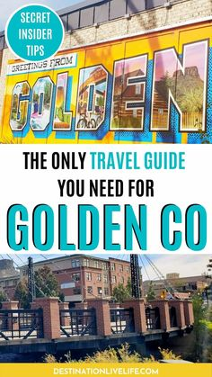 Located a mere 20 minute drive from Denver, the authentic mountain town of Golden, CO feels a world away! What began as a gold rush mining town has blossomed into an ideal spot for family fun, outdoor recreation, incredible restaurants and shopping. Escape the city life for a mountain getaway (without the long drive). Read more here! Golden Colorado Things to Do | What to Do in Golden Colorado | Downtown Golden Colorado | Things to Do in Golden Colorado | Where to Stay in Golden Colorado Denver Travel, Travel Usa, Travel Guides, Travel Tips, Stuff To Do, Things To Do, Long Drive, Us Road Trip, Gold Rush