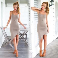 Color: Gray Size: S, M, LMaterial: PolysterSleeve Style: Sleeveless Grey Party Dresses, Party Dresses Online, Party Dresses For Women, Cheap Dresses, Summer Dresses, Online Dress Shopping, Cool Outfits, Women Wear, Bodycon Dress