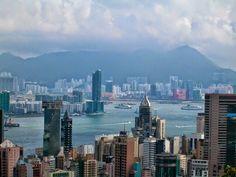 Hong Kong Victoria Peak San Francisco Skyline, Hong Kong, New York Skyline, Victoria, Places, Travel, Viajes, Destinations, Traveling