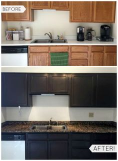 """""""We recently moved into a new home and wanted to do some updating without completely breaking the bank. Being that this is our first home, I was a bit hesitant to do a lot of DIY projects, as I was scared I might mess it up terribly! I am so glad we went with this brand and decided to dramatically change the cabinets! The color is rich and produces a great texture."""""""