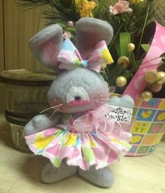 Primitive Raggedy HC Easter Bunny Rabbit Doll Chicks Sparkle Eggs Super Cute!  #IsntThatCute #Easter