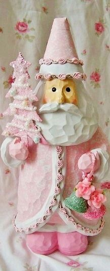 Usar os símbolos de Natal em cor de rosa só pra variar! Divirta-se e boas festas!