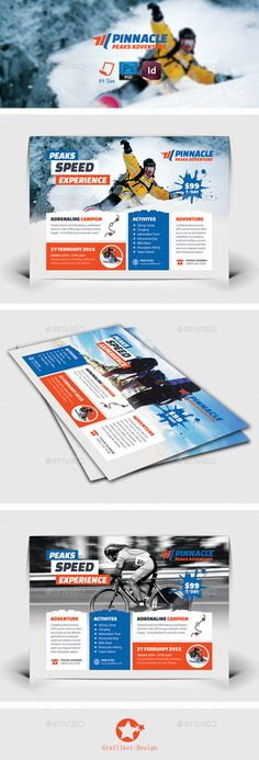 Adventure Flyer Templates — Photoshop PSD #bambi jumping #sun • Available here → https://graphicriver.net/item/adventure-flyer-templates/8928858?ref=pxcr