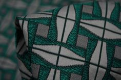 Mint Boiled Lolly Brocade, $89 per meter.  Italian, 59% Polyester, 28% Acetate, 13% Cotton, Dry Clean Only.  Used by Burda for it's Cap Sleeved Jacket with peplum, 2/2014 #115.