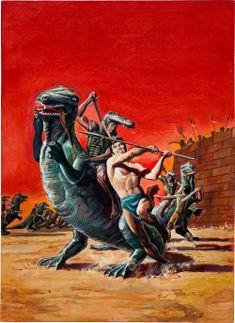 original comic book cover paintings by George Wilson.