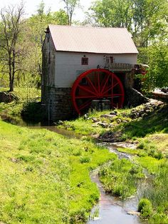 Old Historic Mill at Guilford, North Carolina, highway 68 in North Oak Ridge, North Carolina. The Mill was built around 1820, replacing an earlier one built in 1767.