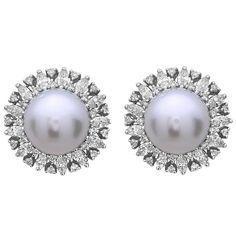 South Sea Pearl Diamond Studs