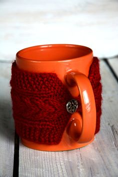 Miami Dolphins coffee cozy NFL Florida Aqua orange Knit cup