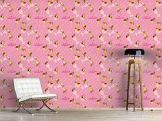 Design #Tapete Erdbeer Gelato