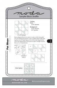 Moda Sampler Block Shuffle Block 1