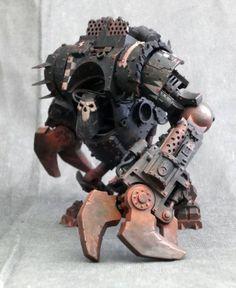 Conversion, Deff Dred, Orks. Warhammer 40k Miniatures #miniatures #warhammer40k #40k
