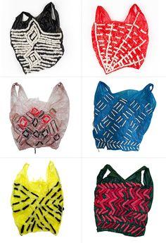 "missmodular: "" Embroidered plastic bags by Josh Blackwell. """