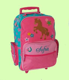 Personalized Stephen Joseph Rolling Luggage by DeerpathDesigns, $39.95
