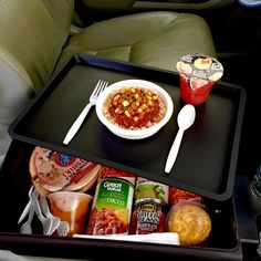PLANNING A ROAD TRIP? Avoid the drive through by packing these shelf-stable food items instead! A healthy plant-based meal is now just a pop-top away!.