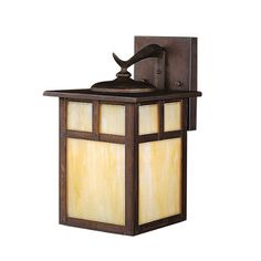 Kichler Lighting 10961CV 13-Watt Alameda 1-Light Fluorescent Energy Star Outdoor Wall Mount, Canyon View with Honey Opalescent Glass, 11-1/2-Inch by Kichler. $131.40. From the Manufacturer                The Kichler Lighting 10961CV 1-Light Fluorescent Alameda Outdoor Wall Mount measures 7-Inch wide with a body height of 11-1/2-Inch. The Alameda Collection brings its simple, down-to-earth design to your outer decor adding an unassuming dynamic to your home's profile. Each fix...