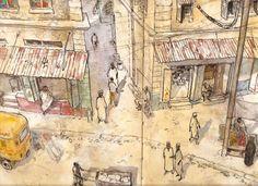 Kenya, 2006. Un quartier de Mombasa. FLAO Benjamin