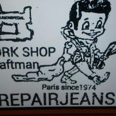 Une bonne adresse  à  Paris  pour  l'entretien  de vos jeans #selvedge #denim