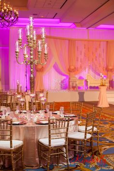 Suhaag Garden, Florida Indian Wedding Decorator, California Indian Wedding Decorator, Indian Destination Wedding Savannah, Indian Wedding, Savannah Trade & Conference Center, Fabric Mandap, Chandelier Mandap, Blush Pink, Open Fabric Stage, Tampa Waterside Hotel & Marina Florida, Gold Mosaic Candelabras, Dramatic Reception Centerpieces, Pakistani Wedding