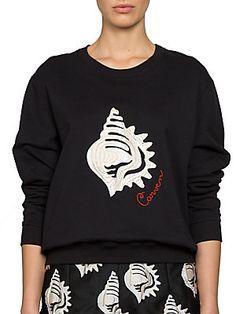 Carven Seashell Cotton Sweatshirt $250