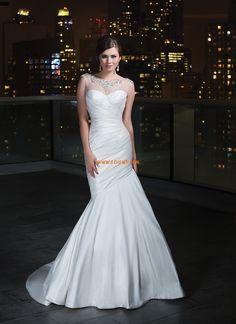 Printemps 2014 Sans manches Au drapée Robes de mariée 2014