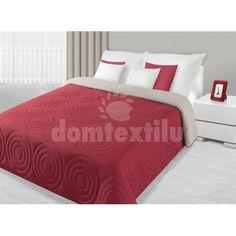 Prehoz na posteľ červenej farby s kruhovým prešívaním Best Amazon Deals, Mattress, Furniture, Design, Home Decor, Home, Decoration Home, Room Decor