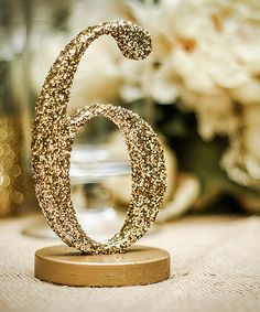 Another great find on #zulily! Gold Glitter Table Number - Set of 10 by Z Create Design #zulilyfinds