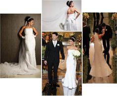 Paulyne Pereira, Brazil.  Bridal gown and veil!  www.belfiorebridal.com