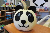 Panda Pumpkin! Would be super cute with the white pumpkins.
