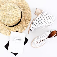 Summer Travel Kit • Our cochella heels in white. ☀️ Don't forget to use THANKU at the checkout for 10% off full price & sale items.  free, express worldwide shipping • www.beaucoops.com  #beaucoops