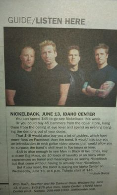 Nickelback Sucks