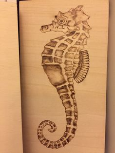 Pyrography SeaHorse Wood Burning Stencils, Wood Burning Crafts, Wood Burning Art, Pyrography Patterns, Wood Carving Patterns, Photo Wall Decor, Wall Decor Pictures, Wooden Wall Art, Wood Art