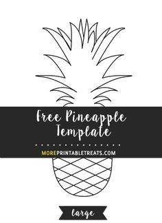 Outline Cut Out Pineapple Template